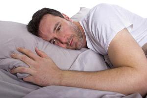 Man trouble sleeping