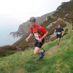Roger Reid running the Exmoor trail half marathon when he was less grey