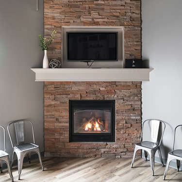 fireplace at Beacon Hill Chiropractic and Massage