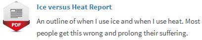 ice vs heat button