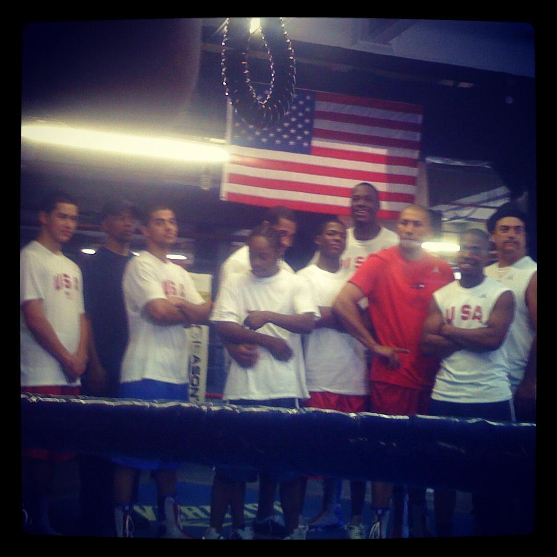 2008 Olympic team at Gleason's Gym