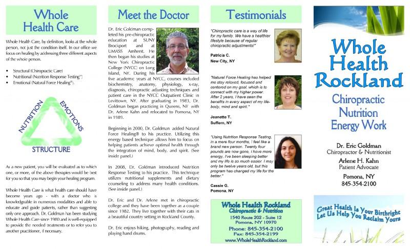 Whole Health Rockland Brochure 1