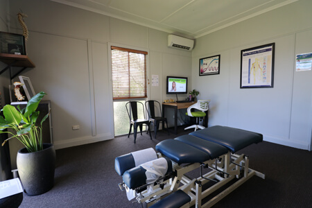 Adjusting room at Mudgeeraba Chiropractic