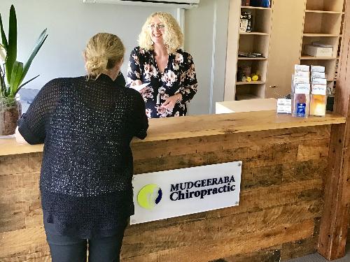 Mudgeeraba Chiropractic Reception