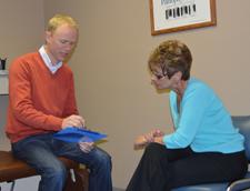 Dr. Drew giving consultation