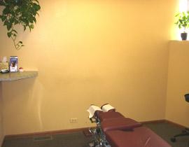 Midwest chiropractic exam room
