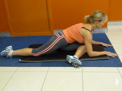Piriformis stretch – Hurdler Stretch