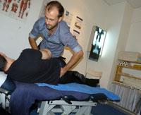 Croydon chiropractor adjusting patient