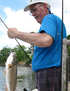 Louisville Chiropractor,  Dr. Bob Woodward fishing