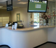 Welcome to our Laguna Hills office, here is our lobby.