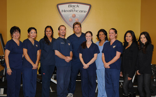 The Back to Healthcare Chiropractic team in Torrance welcomes you