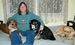 Dr. Lawson, Athens Chiropractor, and her dogs