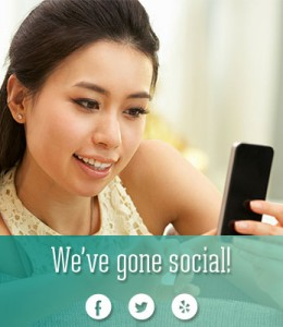 Woman checking social media on mobile phone