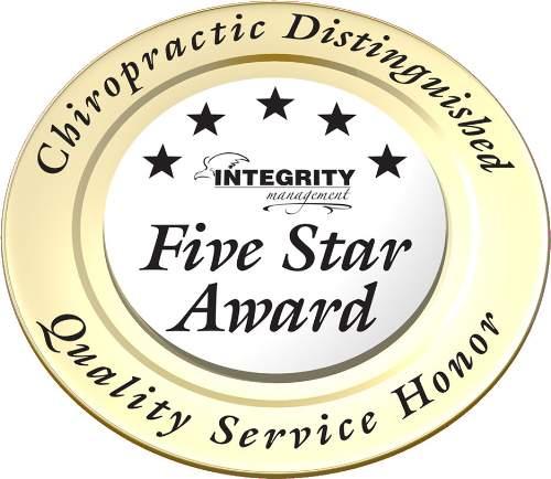Aiken Chiropractor gets five star award