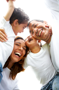 Photo of family who receives chiropractic care