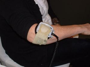 Patient receiving care.