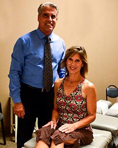 Dr. Elliott with patient