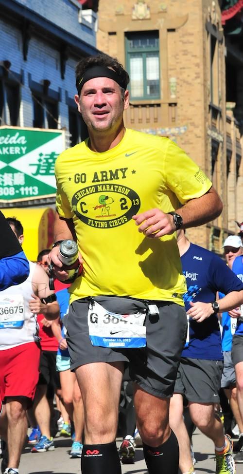 Dr. Eggleston running the Chicago Marathon