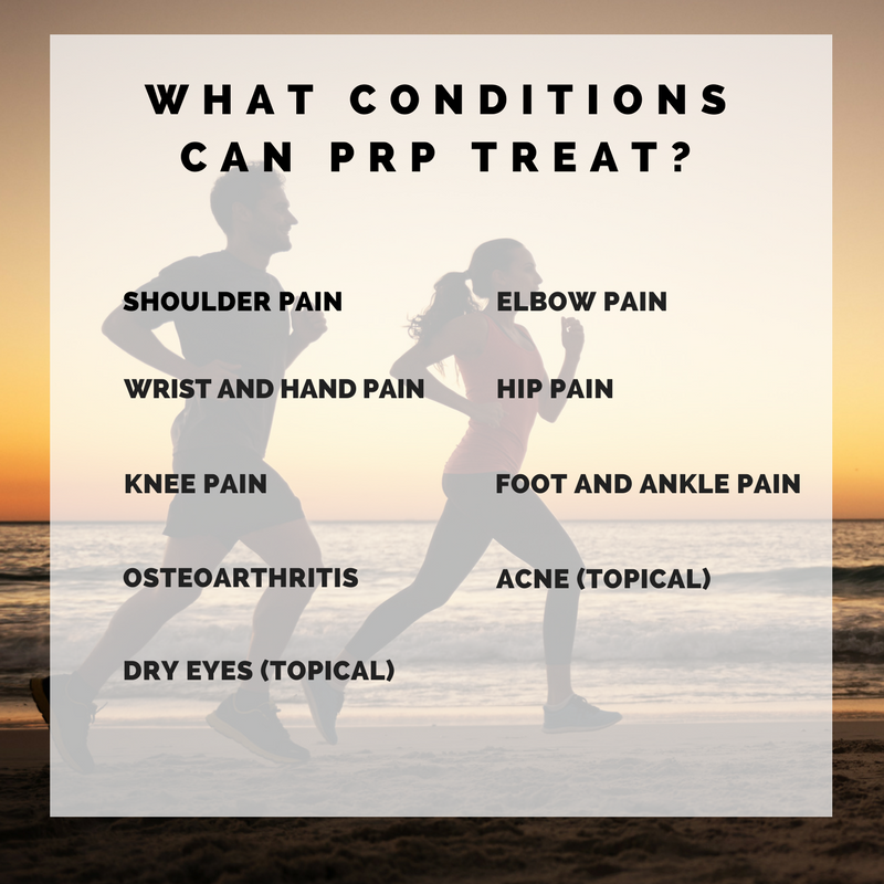 What conditions can PRP treat_