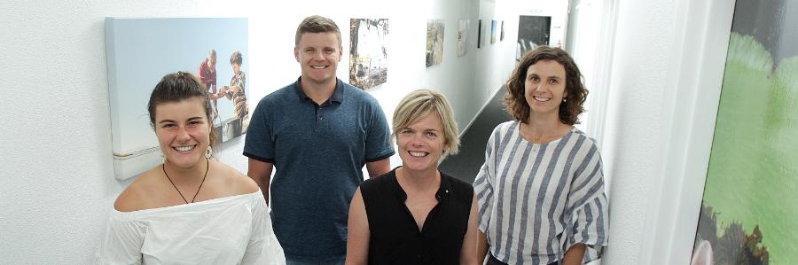 Hastings Chiropractor team: Rachael, Brody, Tamzin and Emma.