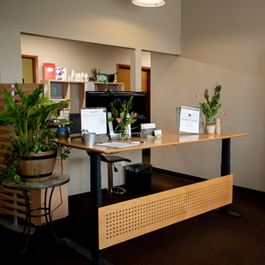 Life Family Chiropractic Reception area