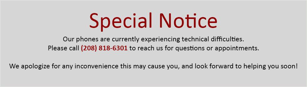 special notice hero slide