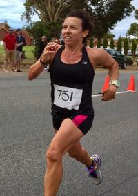 Maria running in a marathon