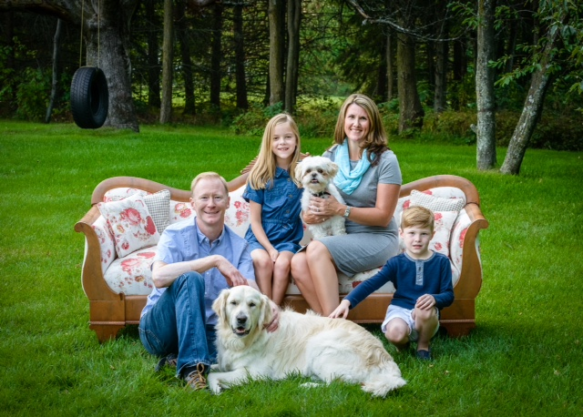 Alliston Chiropractor, Dr. Kent Newton and his family