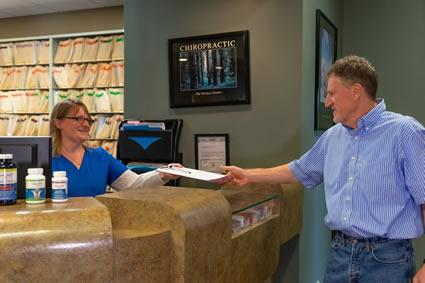 Handing new patient forms