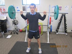 Barbell squat 1