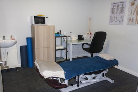 Examination room at Perth Sports Injury Clinic