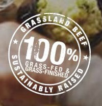 Grass Fed Beef stamp - logo