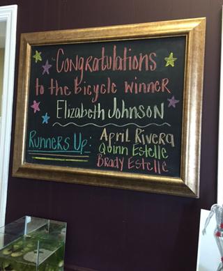 Congratulations Elizabeth!