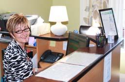 front desk irene at heritage chiropractic