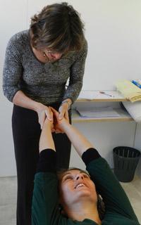 Dr. O'Brien adjusting a patient.
