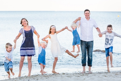 Dr Luke Tassell and family