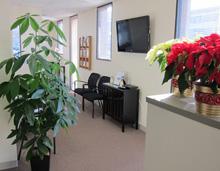 Waiting area at Garrity Chiropractic
