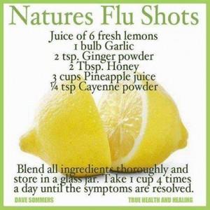 Natures Flu Shots.