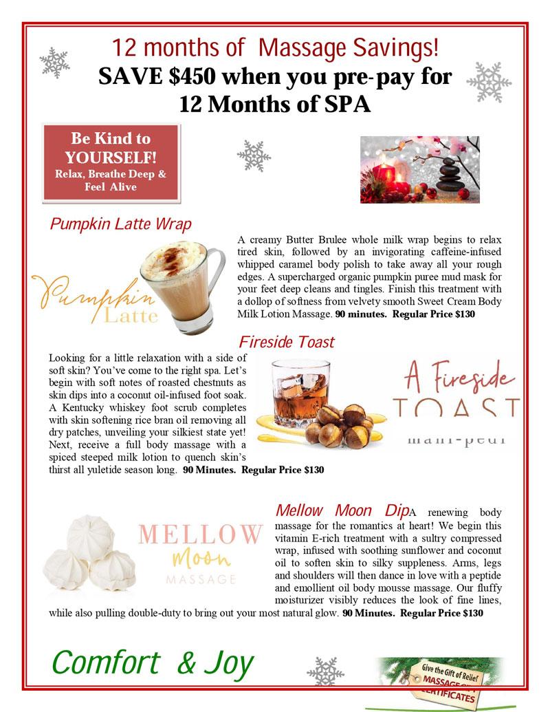 12 Months of Massage Specials