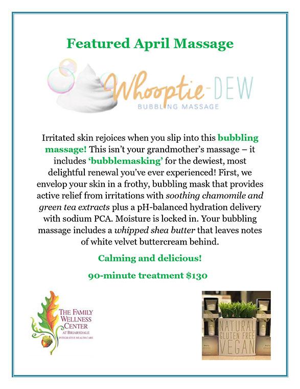 April 2019 Massage Special Flyer