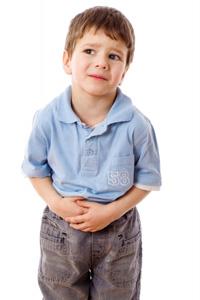 Boy Holding Tummy