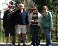 Dr. Ron Ziolkowski and his children