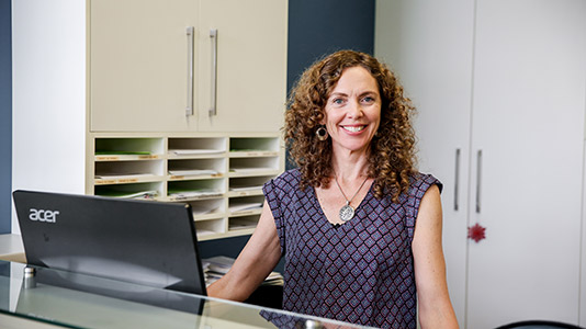 Stafford Chiropractic and Wellbeing Centre receptionist, Kym