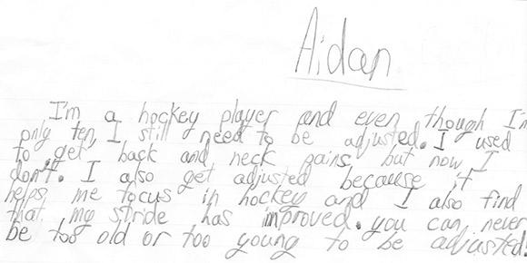 Aiden's Testimonial
