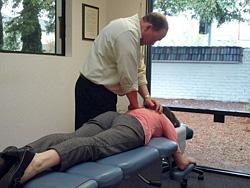 Santa Rosa Chiropractor adjusting