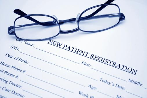 new patient registration form image