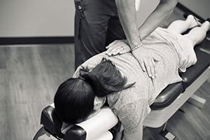 Dr, Howell Adjusting Patient