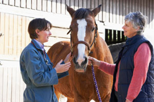 doctor-talking-with-horse-owner