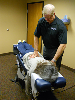 Dr. Hoganson adjusting