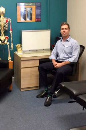 Dr Tilley in consultation room